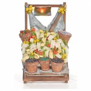 Miniature food: Nativity accessory, salt cod stall 20x22x44cm
