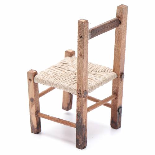 Nativity accessory, straw chair 6.5x3x3cm s2