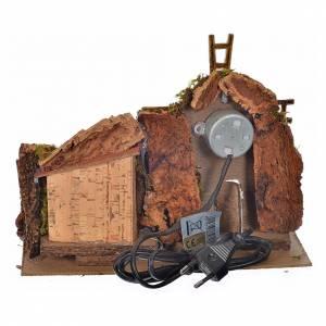Nativity accessory, wind mill with gear motor 25x14x18cm s4