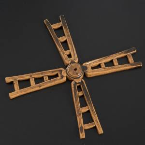 Water pumps and gear motors for nativity scenes: Nativity accessory, windmill vane in resin, 14cm