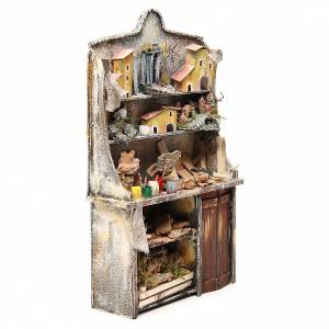 Nativity artist stall, miniature for nativities measuring 40x24x8.5cm s4