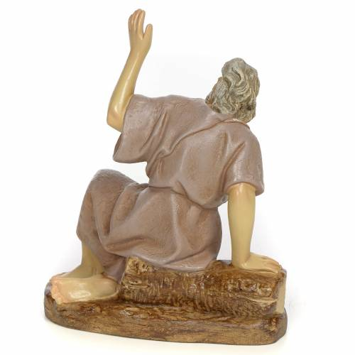 Nativity figurine, astonished man, 20cm (antique decoration) s3