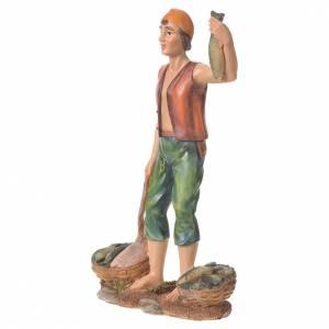 Nativity figurine, fishmonger, 30cm resin s5