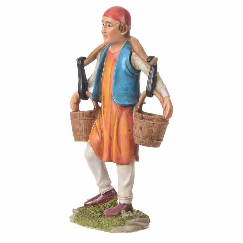 Nativity figurine, man with water buckets, 30cm resin s5