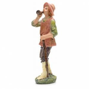 Nativity figurine, shepherd with horn 21cm s2