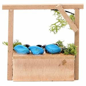 Nativity fish and mussels stall in wax, 10.5x11x4cm s2
