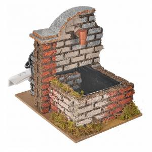 Nativity fountain with water pump measuring 13x10x12cm s2