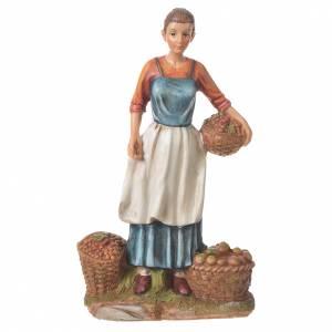 Nativity Fruit and vegetables seller, 30cm resin s1