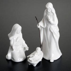 Nativity scene, 8 piece nativity in white porcelain s4
