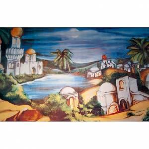 Nativity scene accessory, Arabic-style village backdrop s1