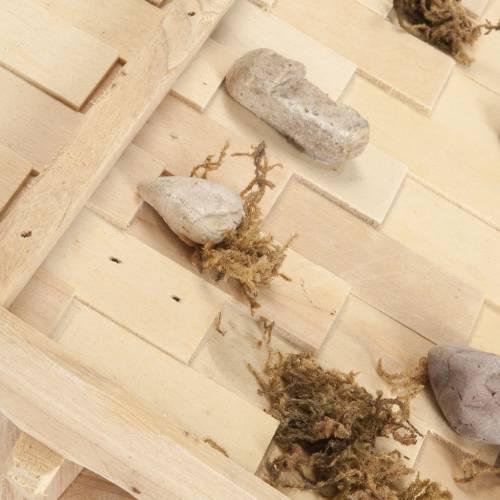 Nativity scene accessory, hut, natural wood, 60x30x30 cm s7