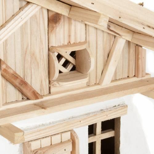 Nativity scene accessory, hut, natural wood, 60x30x30 cm s4
