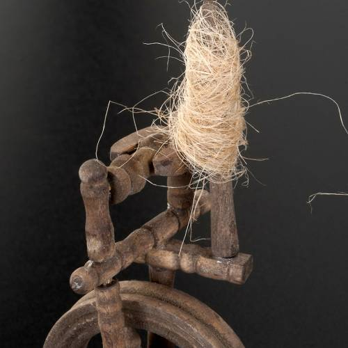 Nativity scene accessory, spinning wheel 10x5 cm s3