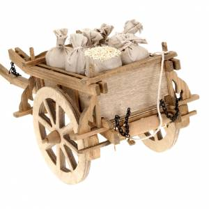 Nativity scene accessory, wooden cart, 12x15 cm s4