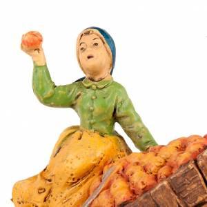 Nativity scene, apple seller figurine with cart s2