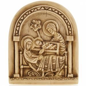 Nativity scene bas relief in stone, Bethlehem monastery s1
