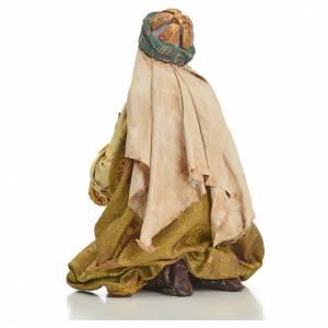 Nativity scene, Ethiopian Wise Man 18cm, Angela Tripi s7