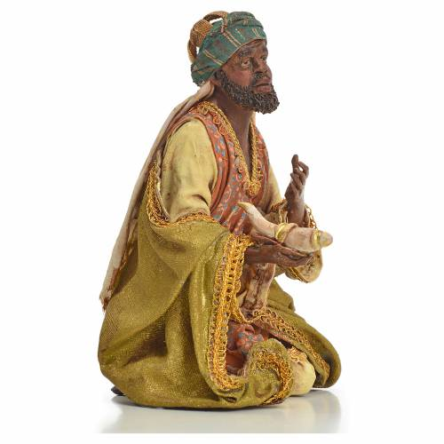 Nativity scene, Ethiopian Wise Man 18cm, Angela Tripi s8