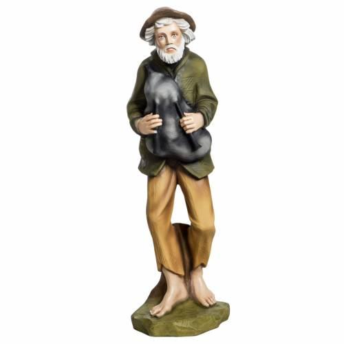 Nativity scene fiberglass figurine, piper 60 cm s1