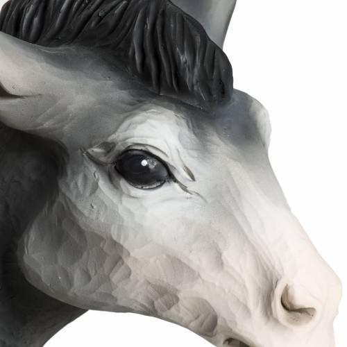 Nativity scene fiberglass figurines, ox and donkey 60 cm s5
