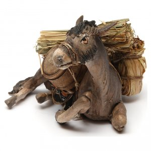 Angela Tripi Nativity scene: Nativity scene figurine, donkey 13cm terracotta, Angela Tripi