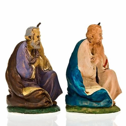 Nativity scene, Saint Joseph on his knees figurine s3