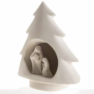Nativity scene, tree in fire clay s4