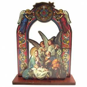 Nativity sets: Nativity scene with 2 angels, measuring 11cm