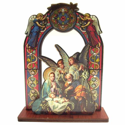Nativity scene with 2 angels, measuring 11cm s1