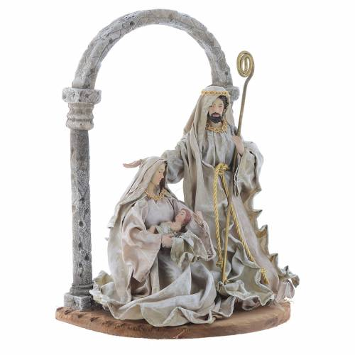 Nativity scene with arch in Green Beige resin measuring 40cm s3