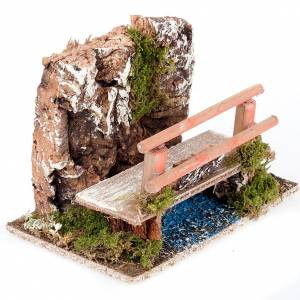 Bridges, streams and fences for Nativity scene: Nativity set accessories, Bench and wall setting