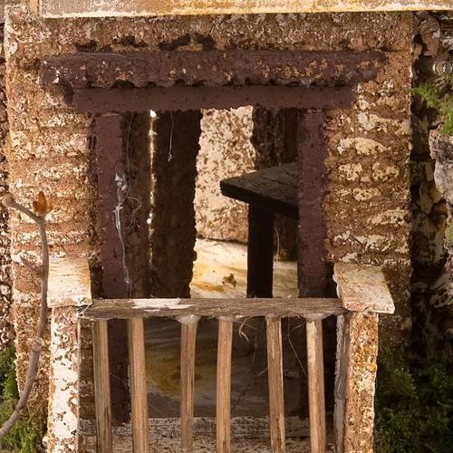 Nativity set accessory, cave with hamlet 30x42x30 cm s5