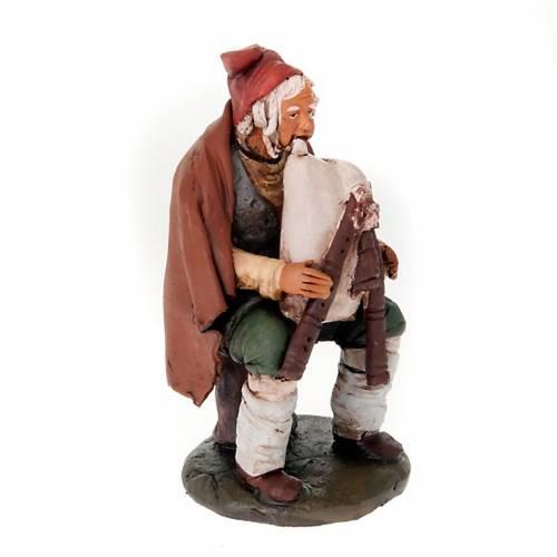 Nativity set accessory clay piper figurine s1