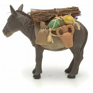 Nativity set accessory Donkey standing and harness 14 cm s3