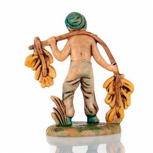 Nativity set accessory, Man carrying bananas figurine 8cm s2