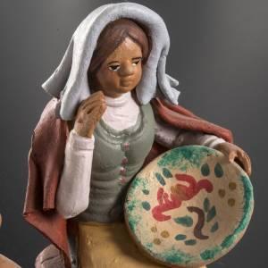 Nativity set accessory Woman selling jars clay figurine s6