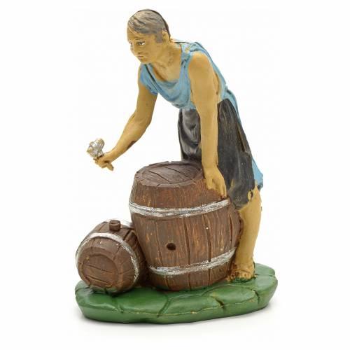 Nativity set figurine, Woman with barrels 10cm s1