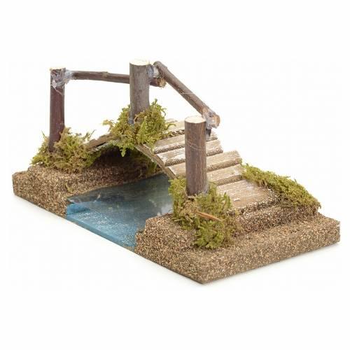 Nativity setting, bridge on the river 9x17x9cm s2
