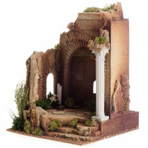 Nativity setting, Roman temple, antique style with arch s2