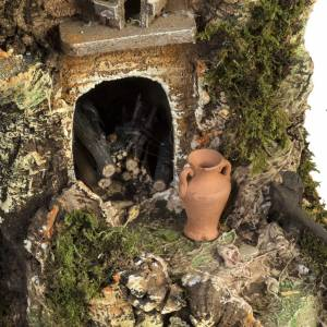 Nativity stable with wind mill 58x50x38cm s8