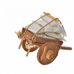 Neapolitan Nativity accessory, cart with cloth 5.5x7.5x5.5cm s2