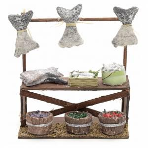 Neapolitan nativity accessory, dried salt cod stall 12cm s1