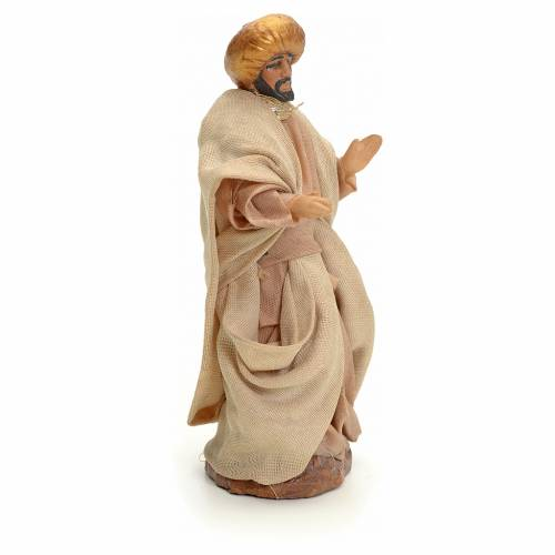 Neapolitan nativity figurine, Arabian man walking, 8cm s2