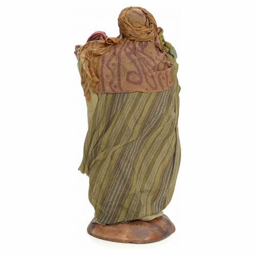 Neapolitan Nativity figurine, cloth seller, 18 cm s3