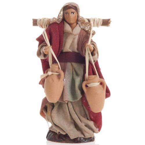 Neapolitan nativity figurine, female water carrier 8cm s1