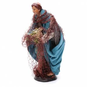 Neapolitan nativity figurine, fisherman 30cm s2
