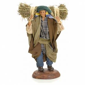 Neapolitan nativity figurine, peasant 18cm s1