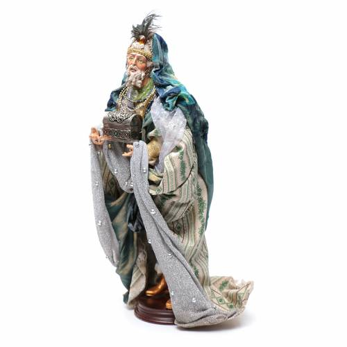 Neapolitan Nativity figurine, three wise kings, 45 cm s3