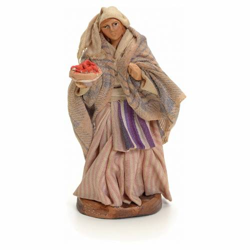 Neapolitan Nativity figurine, waitress, 8 cm s1