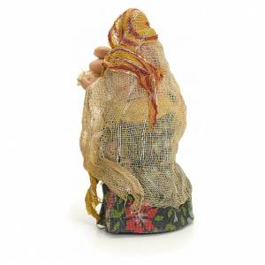 Neapolitan Nativity figurine, woman with eggs, 8 cm s3